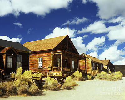 Photograph - Bodie Houses by Jim And Emily Bush