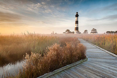 Landmarks Royalty Free Images - Outer Banks North Carolina Bodie Island Lighthouse Royalty-Free Image by Mark VanDyke
