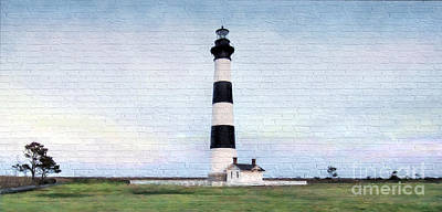 Mural Mixed Media - Bodie Island Lighthouse Mural Art by Marion Johnson