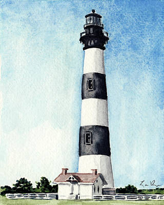 North Sea Painting - Bodie Island Lighthouse Outer Banks North Carolina by Laura Row