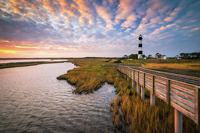 Word Signs - Bodie Island Lighthouse Outer Banks North Carolina OBX NC by Dave Allen