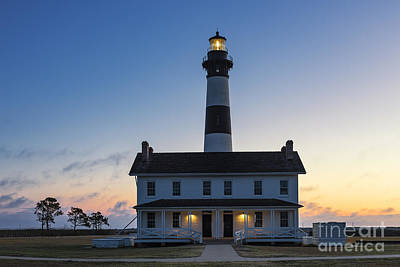Keepers House Photograph - Bodie Island Lighthouse Sunrise by John Greim