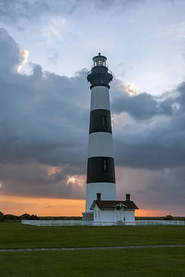 Photograph - Bodie Island Lighthouse Sunset by Liza Eckardt