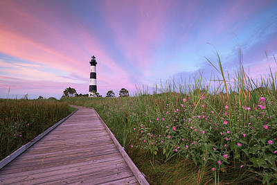 Bodie Island Obx Sunrise Art Print by Mark VanDyke