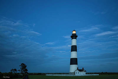 Photograph - Bodie Lighthouse After Dark by Fran Gallogly