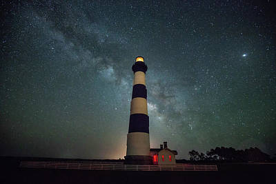Photograph - Bodie Lighthouse And Milky Way by Jack Nevitt
