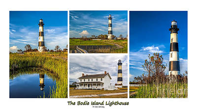 Photograph - Bodie Lighthouse Collage  by Nick Zelinsky