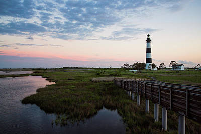 Photograph - Bodie Lighthouse From The Marsh by Fran Gallogly