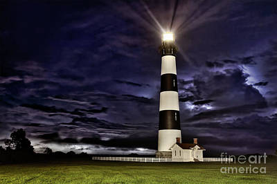 Photograph - Bodie Lighthouse In A Thunderstorm by Dan Carmichael