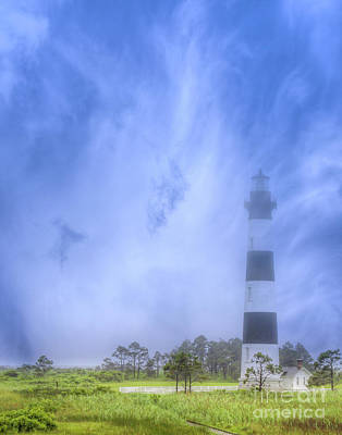 Digital Art - Bodie Lighthouse Outer Banks by Randy Steele