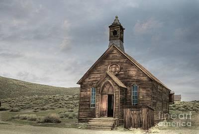 Miners Ghost Photograph - Bodie Methodist Church by Benanne Stiens