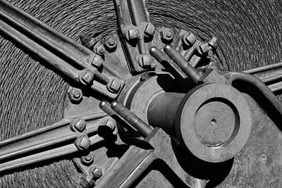 Black And White Photograph - Bodie Mining Equipment by Troy Montemayor