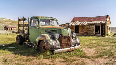 Photograph - Bodie Pickup Truck by Geoffrey Lewis