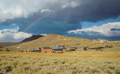 Photograph - Bodie Rainbow by Mike Ronnebeck