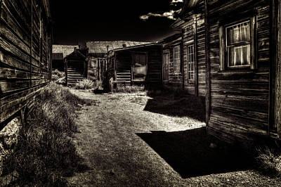 Photograph - Bodie Side Street by Roger Passman