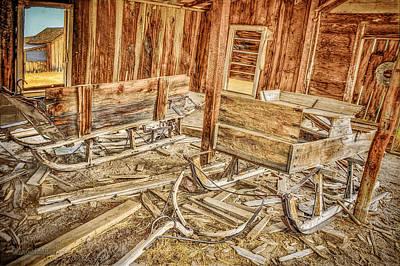 Photograph - Bodie Sled Barn by LeeAnn McLaneGoetz McLaneGoetzStudioLLCcom