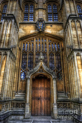 Photograph - Bodleian Library Door - Oxford by Yhun Suarez