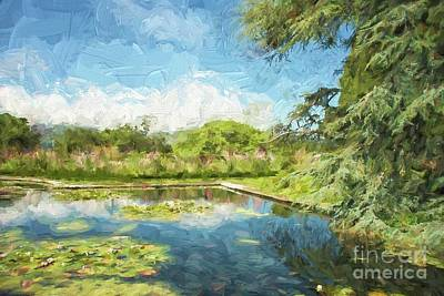 Photograph - Bodnant Garden Lily Pond by Patricia Hofmeester