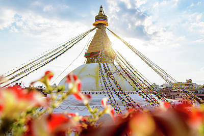 Photograph - Bodnath Stupa In Kathmandu by Dutourdumonde Photography