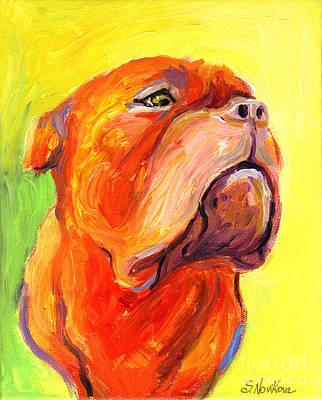 Mastiff Painting - Bodreaux Mastiff Dog Painting by Svetlana Novikova