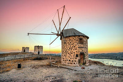 Photograph - Bodrum And Old Windmills - Turkey by Luciano Mortula