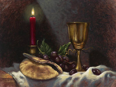 Communion Painting - Body And Blood by Timothy Jones