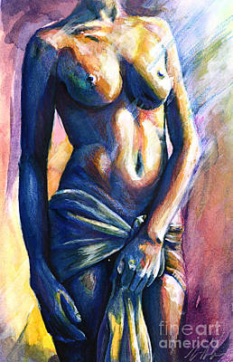 Nudes Paintings - Body And Soul by Michael Volpicelli