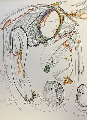 Wall Art - Drawing - Body Art by Rosalinde Reece