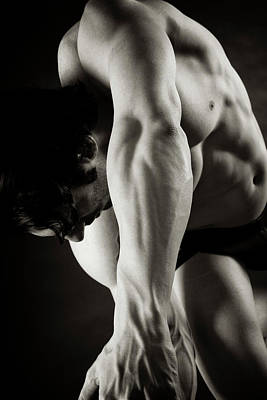 Male Physique Photograph - Body Fall by Thomas Mitchell
