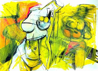 Drawing - Body Language by Helen Syron