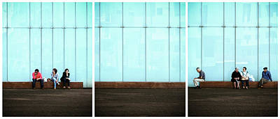 Triptych Photograph - Body Language by Paulo Abrantes