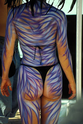 Aloha For Days - Body Paint Masterpiece by Carl Purcell