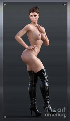 Photograph - Studio Woman Render 07 by Carlos Diaz