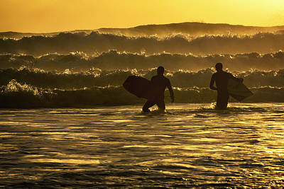 Body Surfing Photograph - Body Surfers On The Coast Of Kodiak by Marion Owen