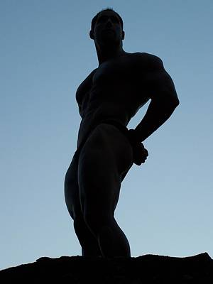 Photograph - Bodybuilder Silhouette by Jake Hartz