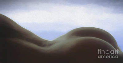 Painting - Bodyscape 1 Pastel On Paper by Robert Gaines