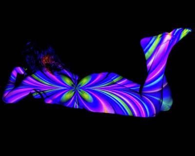Bodyscape - Rainbow Unicorn 4 Art Print