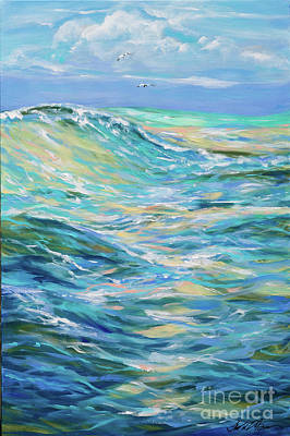 Painting - Bodysurfing North by Linda Olsen
