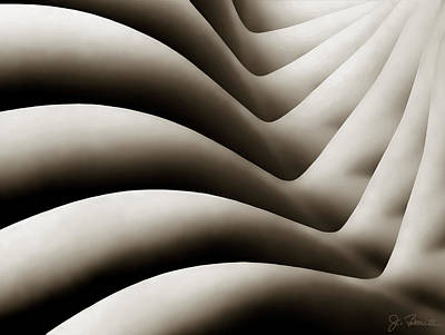 Female Body Digital Art - Bodywaves by Joe Bonita