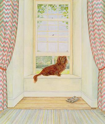 Window Signs Painting - Boef Van Keulen  by Ditz