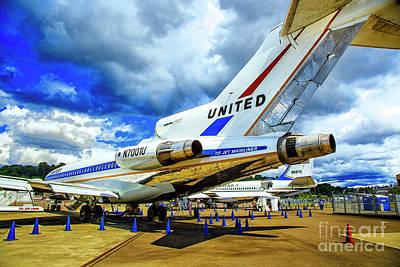 Photograph - Boeing 727 Rear View by Rick Bragan