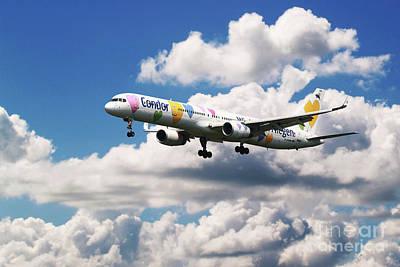 Condor Digital Art - Boeing 757 Condor Airlines by J Biggadike