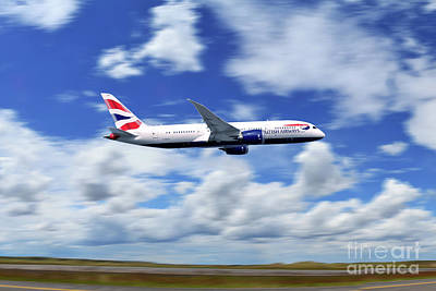Boeing 787 Dreamliner Digital Art - Boeing 787-8 Dreamliner British Airways  by J Biggadike