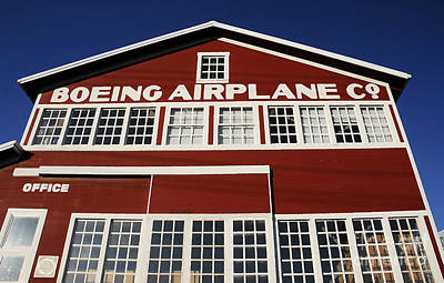 Boeing Airplane Hanger Number One Art Print by David Lee Thompson