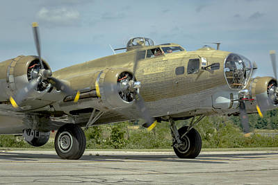 Music Royalty-Free and Rights-Managed Images - Boeing B-17 Flying Fortress by Jack R Perry