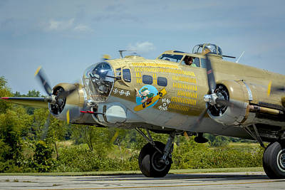 Music Royalty-Free and Rights-Managed Images - Boeing B-17G Flying Fortress   by Jack R Perry