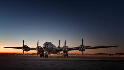 Airplane Digital Art - Boeing B-29 Superfortress by Super Lovely