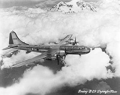 Fighter Aircraft Photograph - Boeing B-29 Superfortress by Underwood Archives