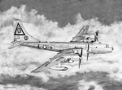 Drawing - Boeing B-50 by Douglas Castleman