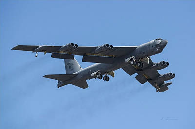 B-52 Mixed Media - Boeing B-52 Stratofortress by L Brown